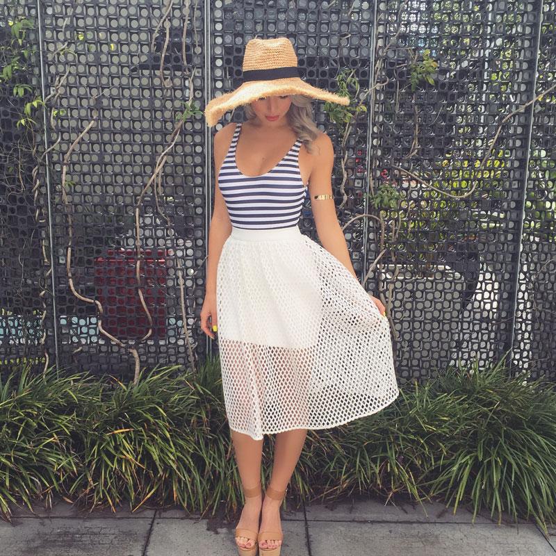 5111e414ed Aria Midi Skirt - Milano Imai Field Fashion