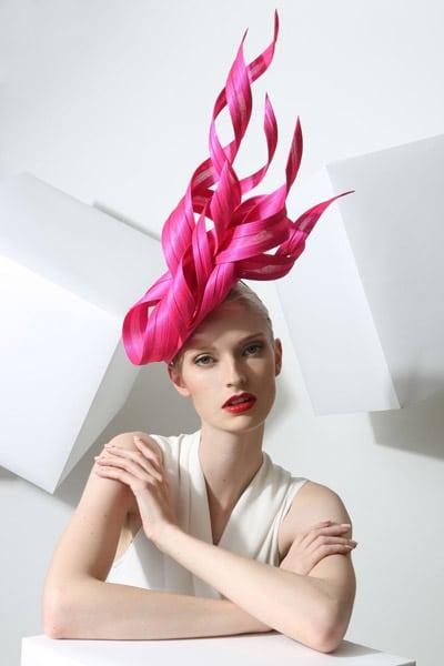 pink fascinator