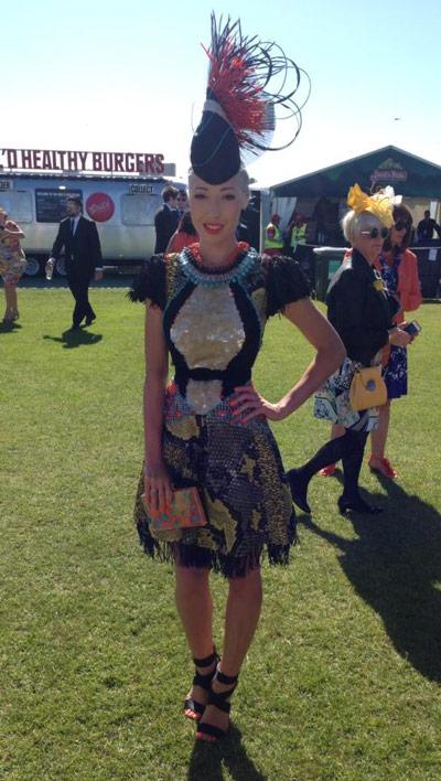 Atlantis dress recycled embellishment