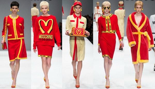 red yellow runway fashion