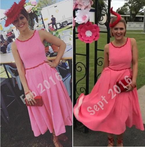 reuse pink race dress