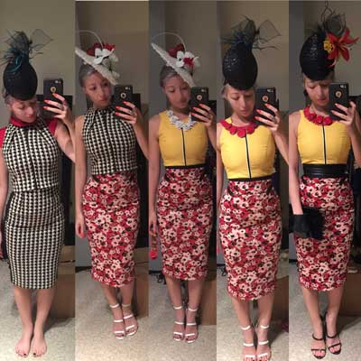 DIY Trial Fashions on the field red and yellow