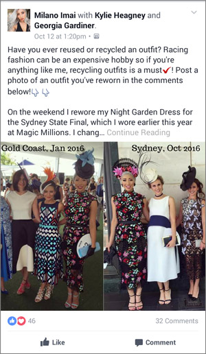 reuse race day dress examples