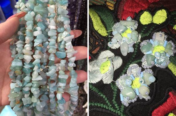 blue beading texture rocks