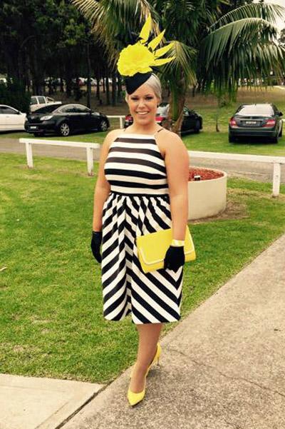 horizontal and vertical stripe dress clash