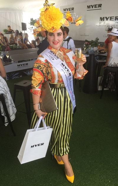 Stripe full skirt versace bag print