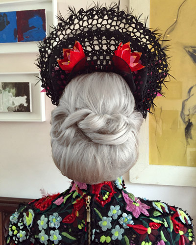 hairstyle for crown fascinator