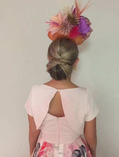 Fancy bun for races