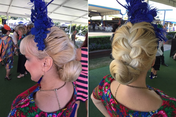 braid and bun hairstyle