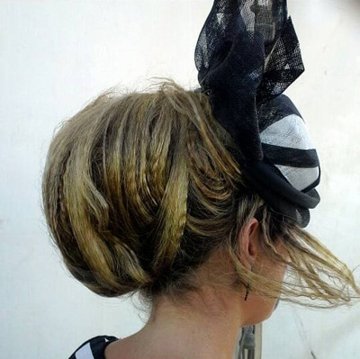 textured crimped millinery