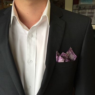 The casual fold pocket square