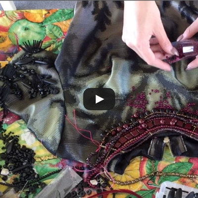 DIY beading embellishing video