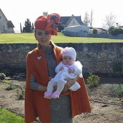 Orange cape for winter
