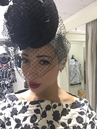 hat veil veiling black netting