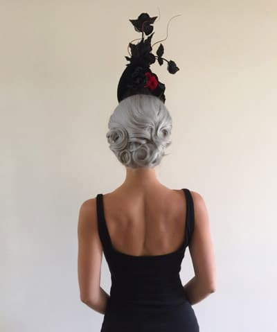 races hairstyles with fascinator