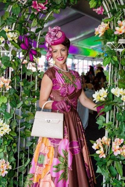 Vintage Themed Floral Dress