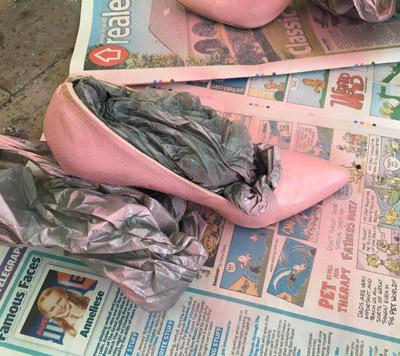 pink heel DIY