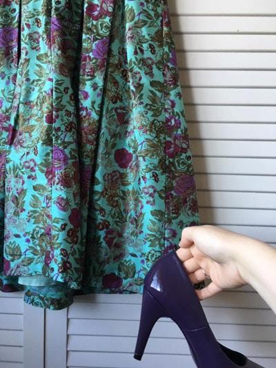 painted Purple heels