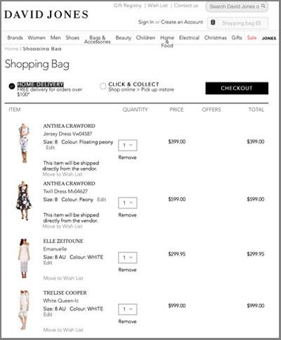 David Jones Race Dress Shopping