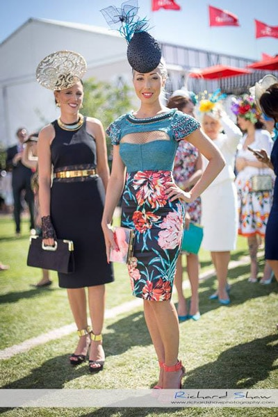 Flemington spring racing carnival fashions on the field