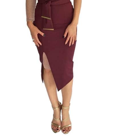dress front split feature