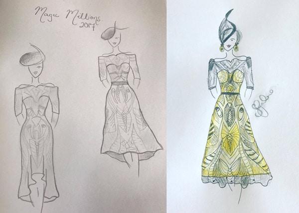 race dress fashion design state finalist winner