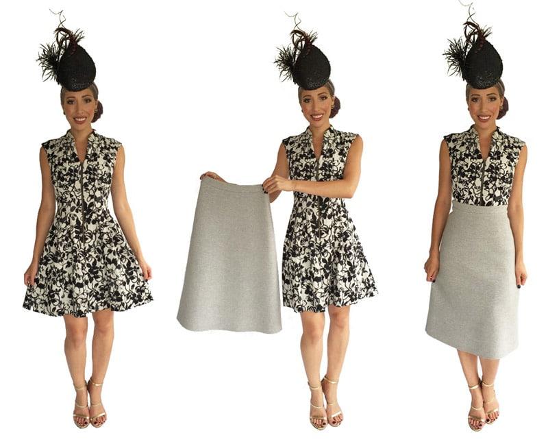A-line skirt worn over A-line dress