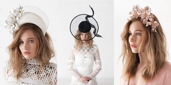 Halo crown milliner and fascinator trends