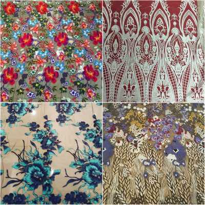 Fabric sutra floral race wear