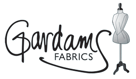 gardams logo fabric store race wear