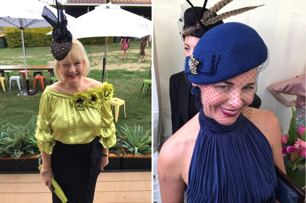 Doomben 10000 royal blue race wear millinery
