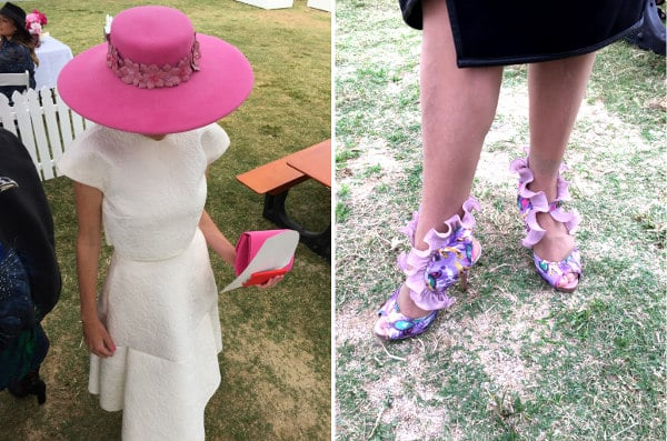 Doomben 10000 white race wear pink millinery