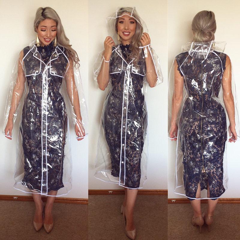 Milano Imai Field Fashion, See Through Plastic Trench Coat
