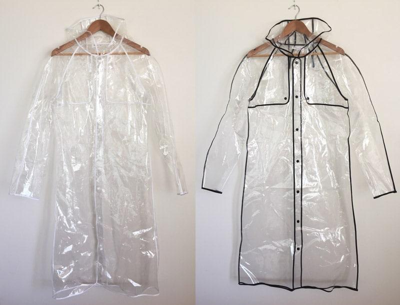 midi length long raincoat
