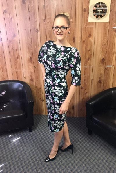 Kat Clarke easy fashion poses