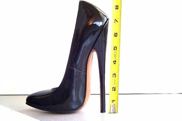 High black stiletto heels