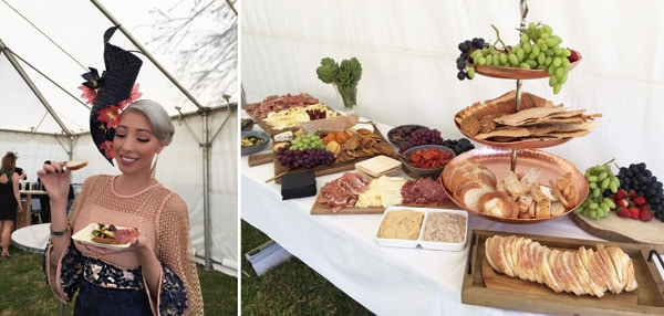 VIP races tent cheese platter