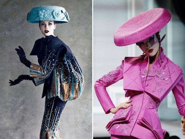 Mushroom hats inspired by Dior