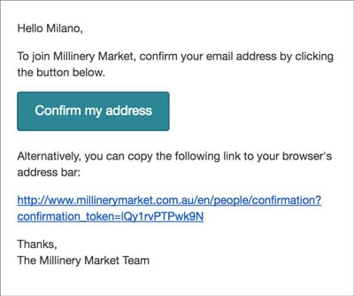 millinery market