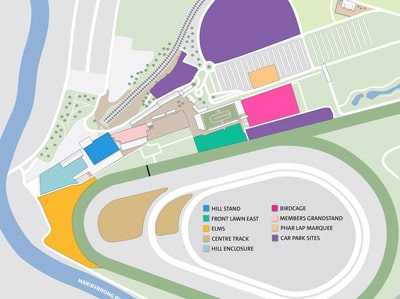 race course track map