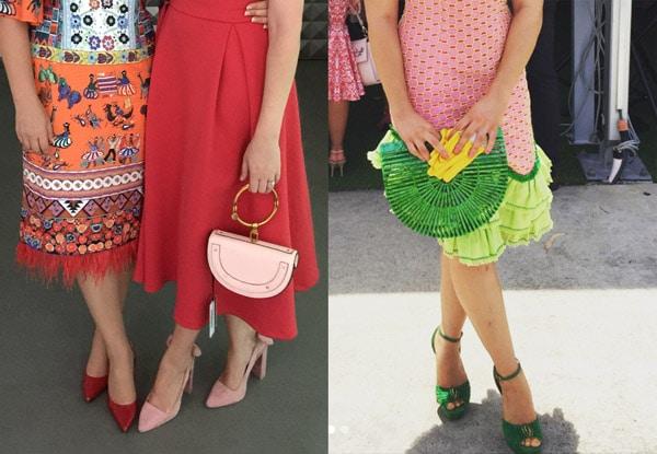 bright colourful stylish handbags
