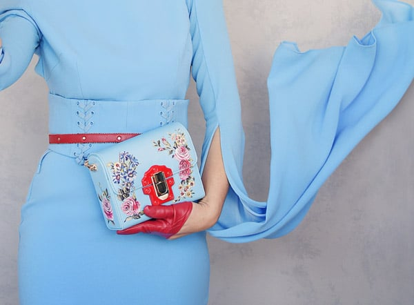 baby blue clutch elegant accessorise