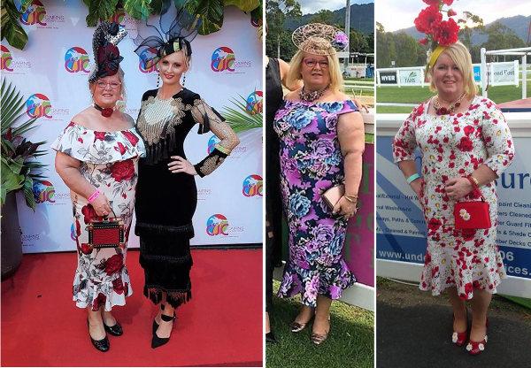 Anne Stevens floral racewear dresses worn