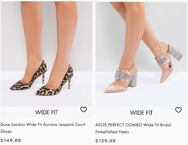 Bridal shoes and leopard shoes in dune colour