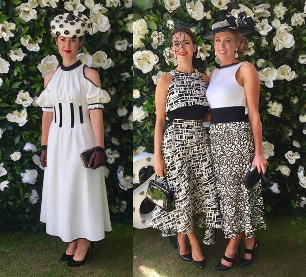 black and white theme race dresses