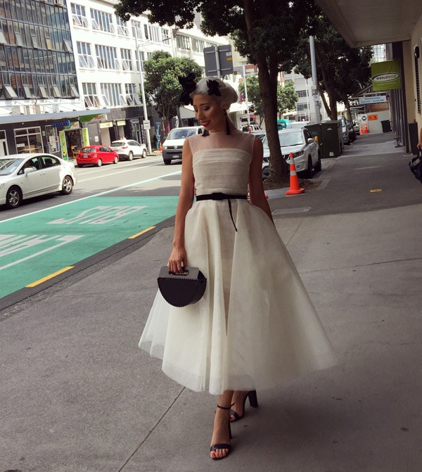 street style white dress