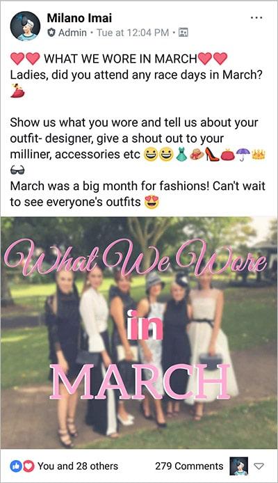 milano imai racing fashion facebook group