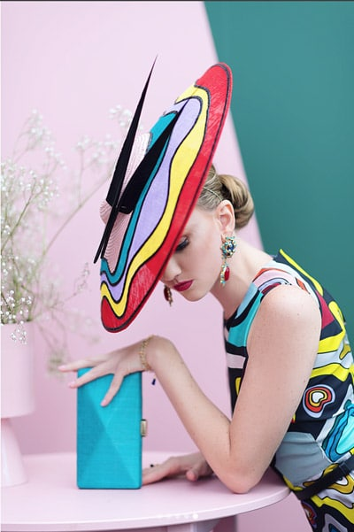 colourful bold fascinator hat headpiece