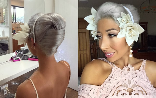 races updo hair
