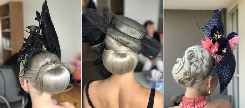 big hairstyles to suit millinery fascinator